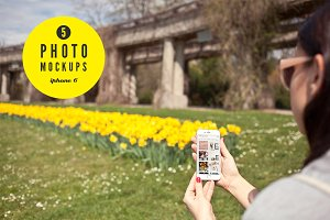 iPhone6 spring set - 5 photo mockups
