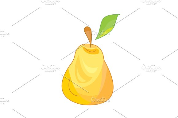 Pear Vector Icon On A White