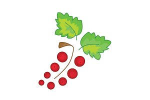 Red currant vector icon on a white