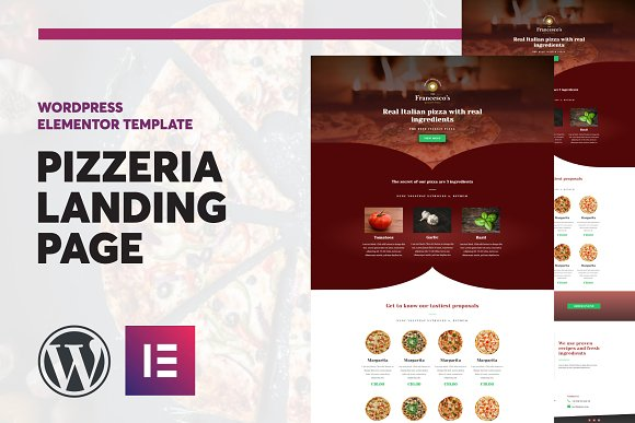 Pizzeria Elementor Landing Page