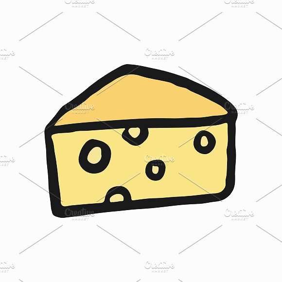 Illustration Of French Cheese