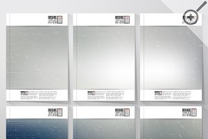 Brochures with blurred background