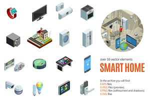 Smart Home Isometric