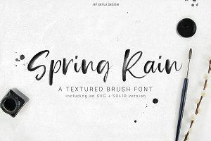 SpringRain SVG watercolor brush font
