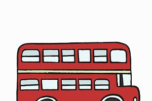 Double-decker bus illustration