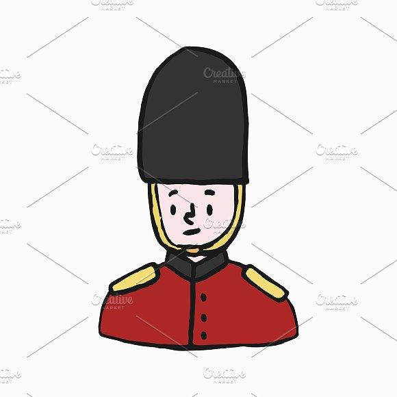 Foot Guard British Army Illustration