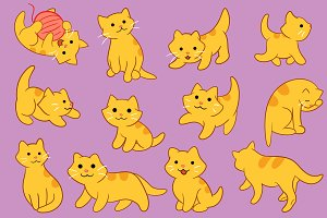 Cute Kitten Pose Clip Art