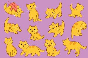 Cute Kitten Pose Clip Art