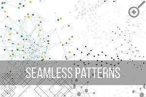 Molecular structure seamless pattern