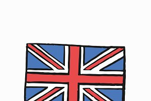 Flag of United Kingdom illustration