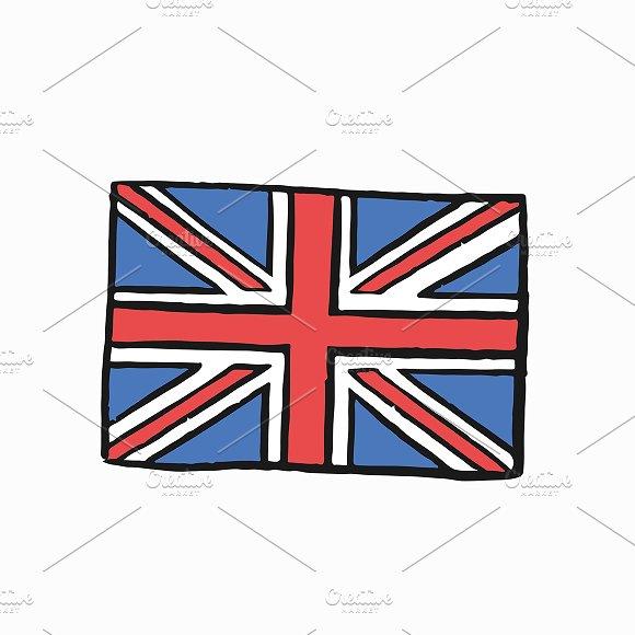 Flag Of United Kingdom Illustration
