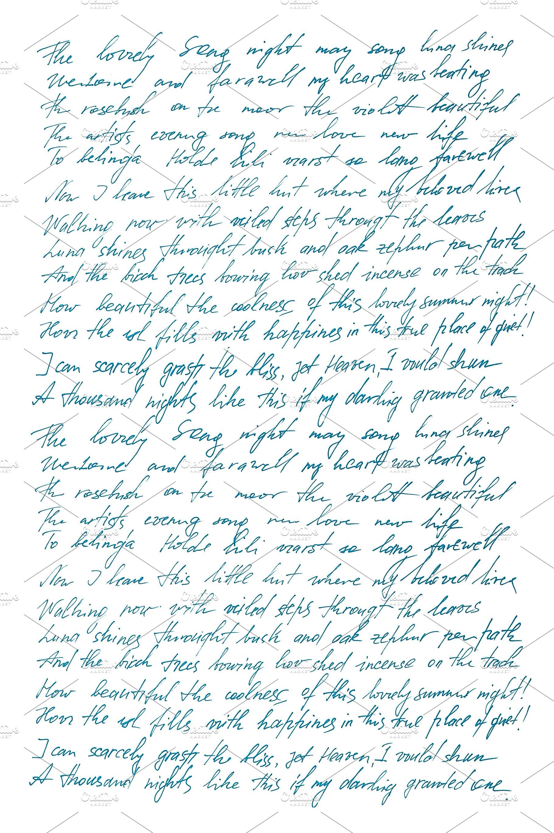 Handwriting Calligraphy Letter JPG