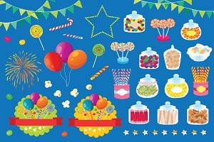 Party Stuff Vector Illustration