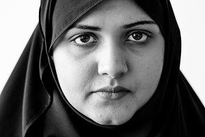 Portrait of muslim person