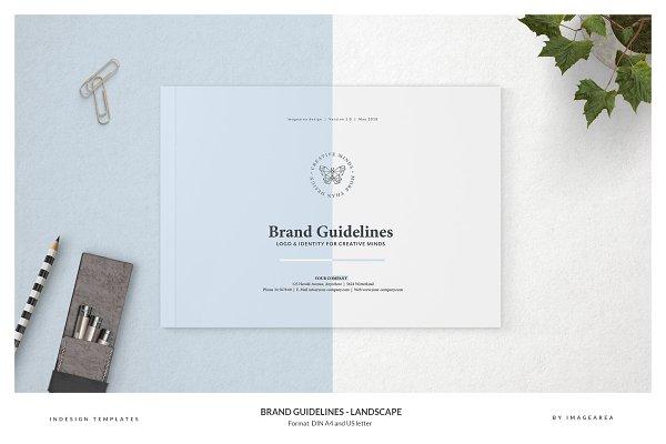 Brochure Templates: Imagearea - Brand Guidelines - Landscape