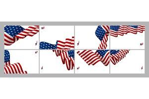 American flag wave banner background