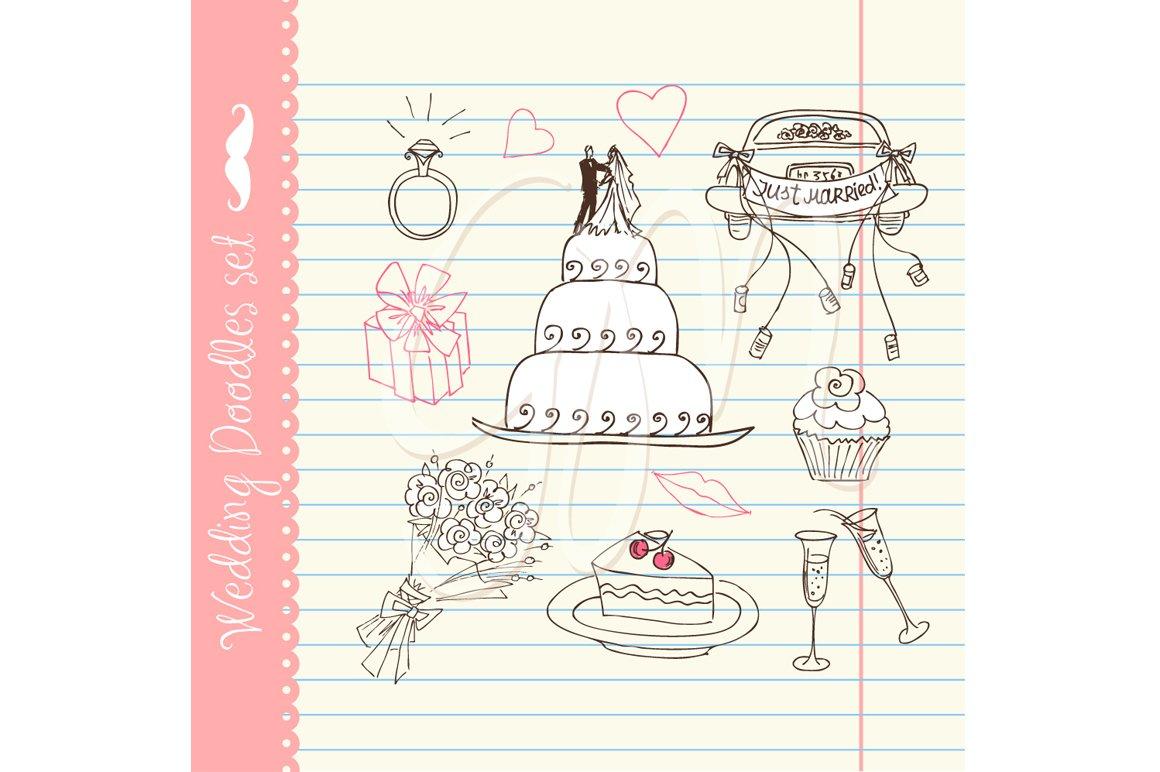 Wedding clip art for wedding invites ~ Illustrations ~ Creative Market