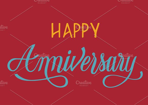 Happy Anniversary Style Illustration