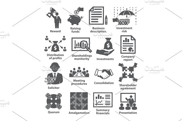 Business Management Icons Pack 43