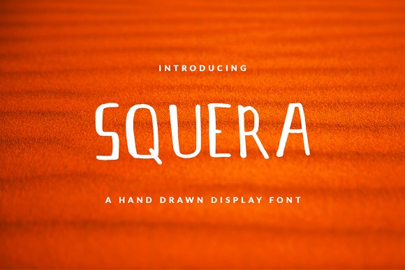 SQUERA Font For Header Book Text