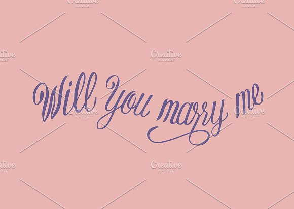 Will You Marry Me Illustration Style