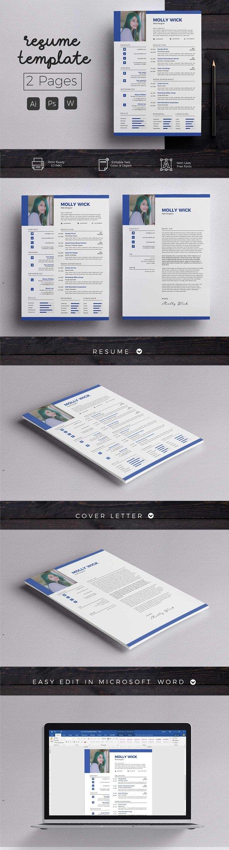 Modern Resume CoverLetter Template