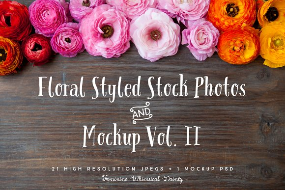 Floral Styled Photo Bundle Vol. II - Graphics