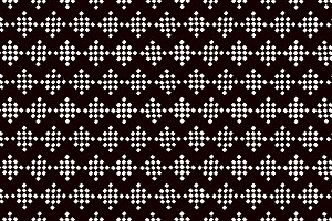 Black and white ethnic geo pattern