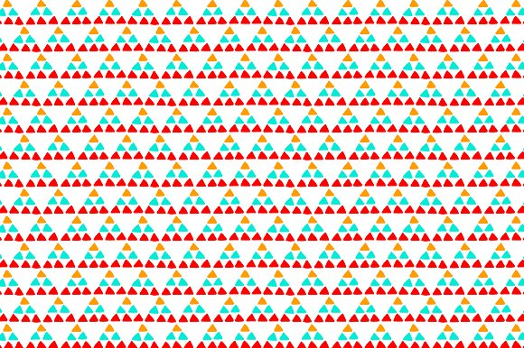 Colorful Triangles On White Pattern