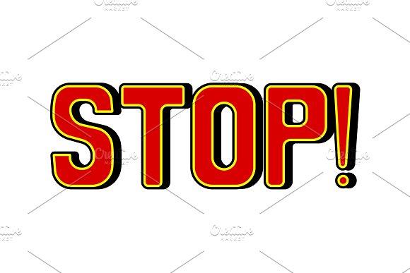 Stop Word Comic Book Pop Art Vector Illustration