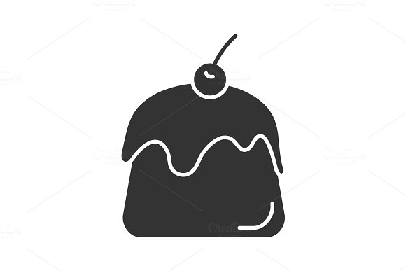Pudding Glyph Icon