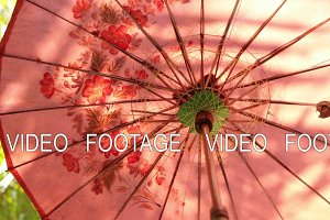 Colorful umbrella closeup background.