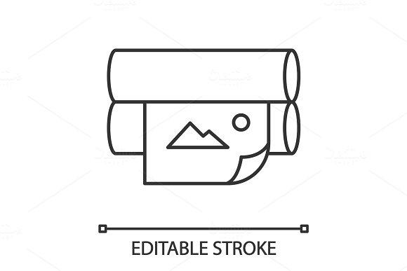 Offset Printer Linear Icon