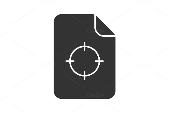 Printing Registration Mark Glyph Icon