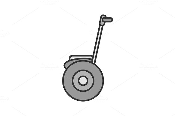 Self Balancing Scooter Color Icon