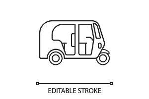 Auto rickshaw linear icon