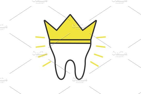 Dental Crown Color Icon