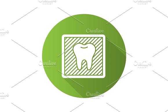 Dental X-ray Flat Design Long Shadow Glyph Icon