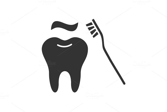 Correct Teeth Brushing Glyph Icon
