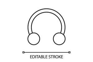 Half hoop earring linear icon