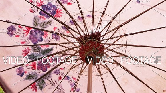 Colorful Umbrella Closeup Background