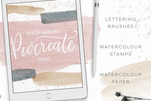 Add-Ons: By Lef - Procreate Brushes Watercolor Kit