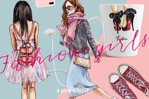 ClipArt fashion girls. Fashion Shoes