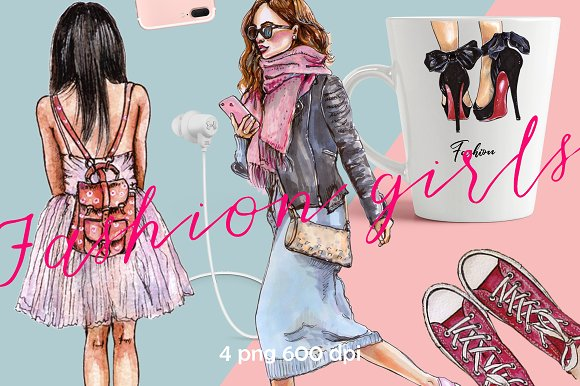 ClipArt Fashion Girls Fashion Shoes