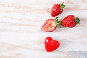 Ripe fresh strawberry