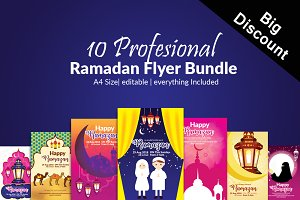 10 Ramadan Iftaar Flyers Bundle
