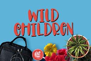 Wild Children - Hand Lettered Font