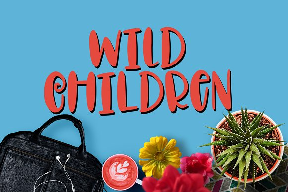 Wild Children Hand Lettered Font