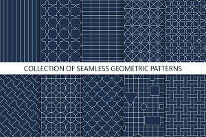 Simple seamless geometric patterns