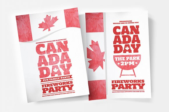 Canada Day Flyer Poster Templates